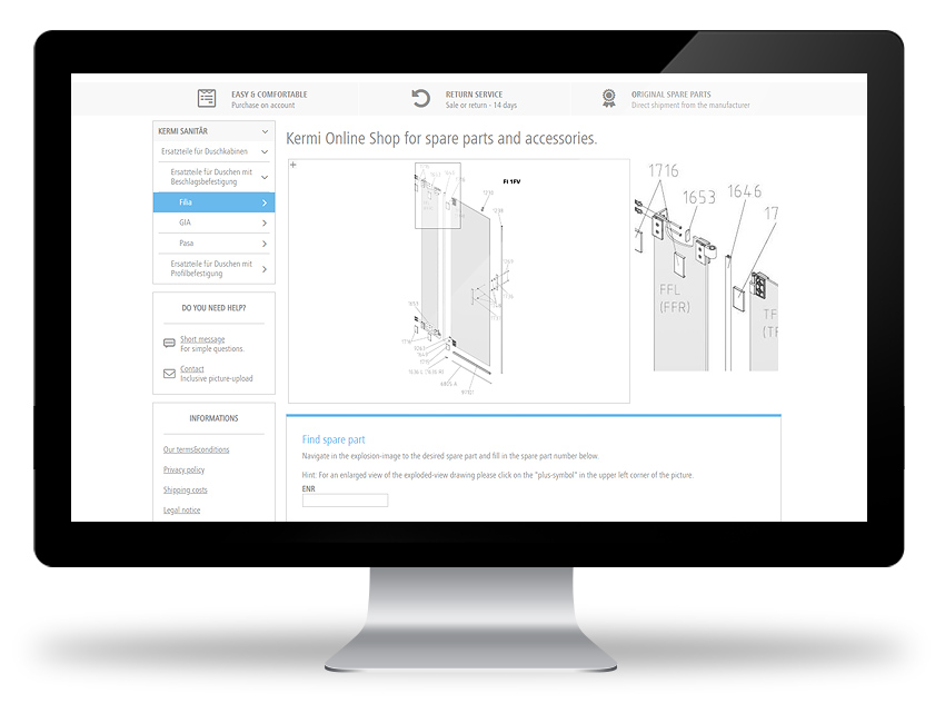 e-Commerce for SAP ERP by WECO - After Sales Spare Parts Webshop